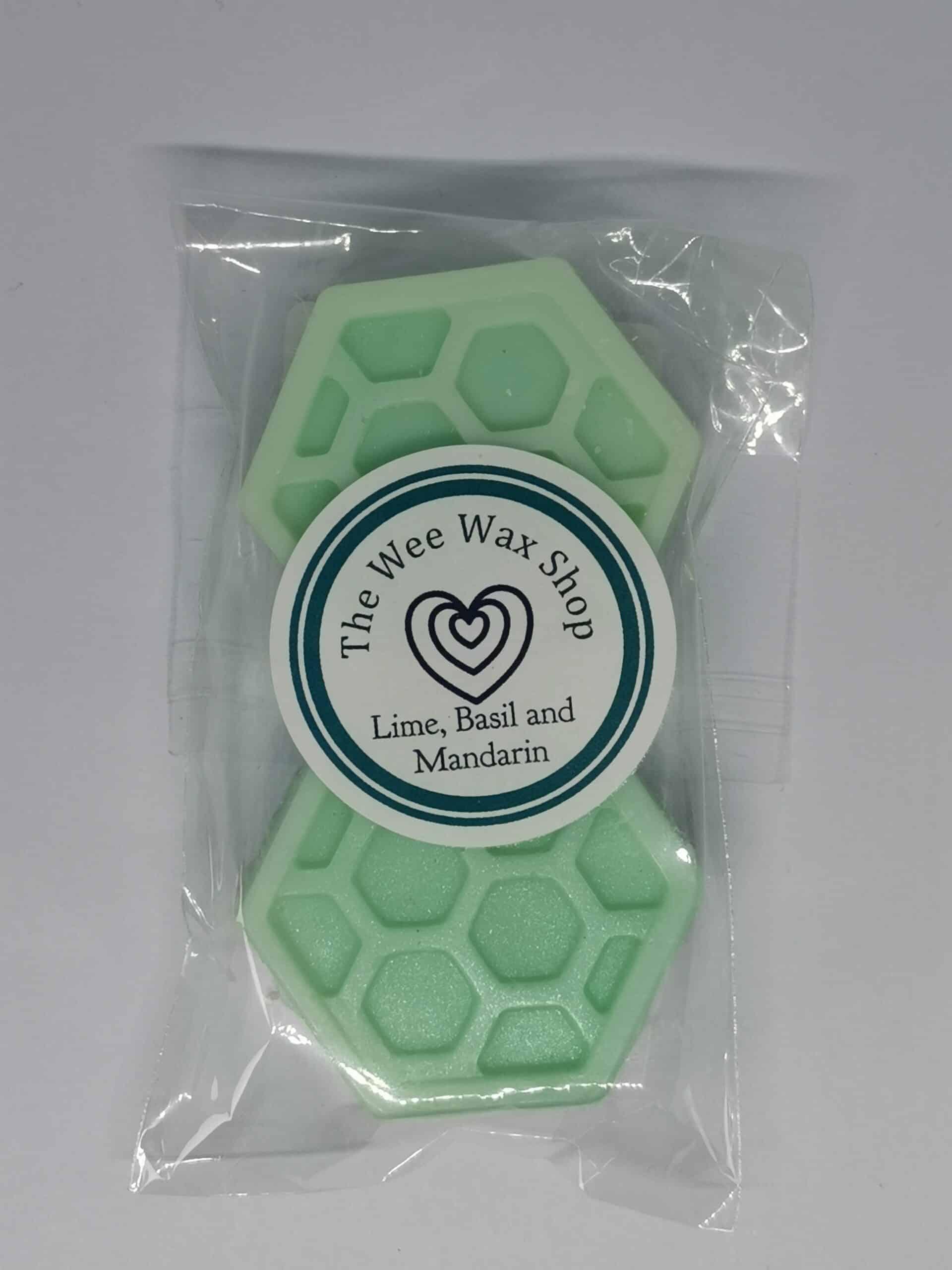Honeycomb Lime Basil and Mandarin Wax Melt scaled